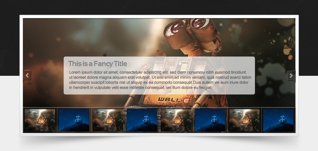 Fancy Light Slideshow with Thumbs PSD