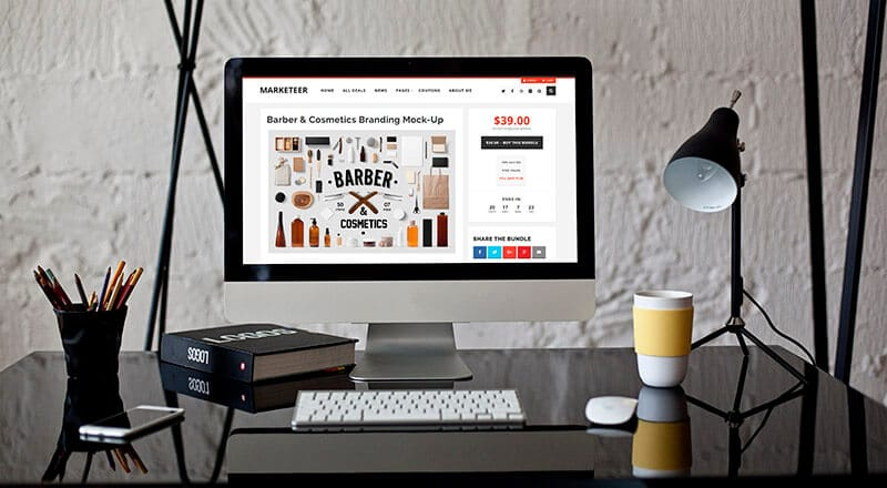 Single product page for the Marketeer theme