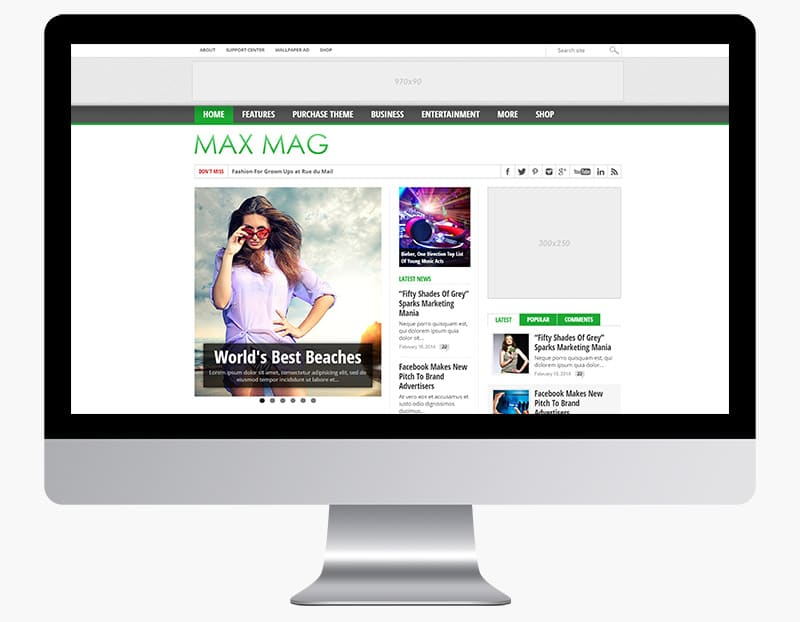 Max Mag is a colourful media and magazine theme.
