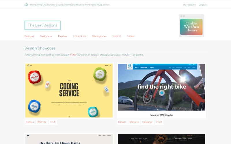 The best designs CSS gallery